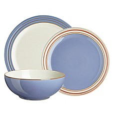 image of Denby Heritage Fountain 12-Piece Dinnerware Set in Blue