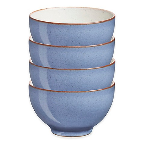 Denby Heritage Fountain Small Bowls In Blue Set Of 4