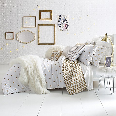 Glam Polka Dot Reversible Comforter Set Bed Bath Amp Beyond