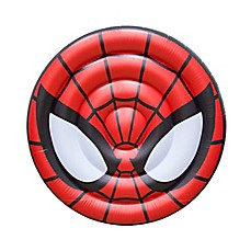 image of Marvel® Spiderman Oversized Inflatable Ride-On Shield in Red
