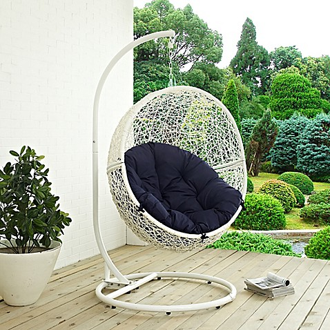 Modway Hide Patio Stand Alone Swing Hammock Chair Bed