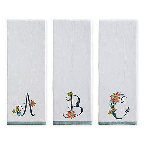 Monogram Floral Kitchen Towel Bed Bath Beyond