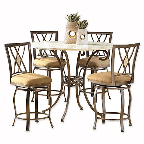 Hillsdale Furniture Brookside 5 Piece Counter Height Dining Set With Diamond