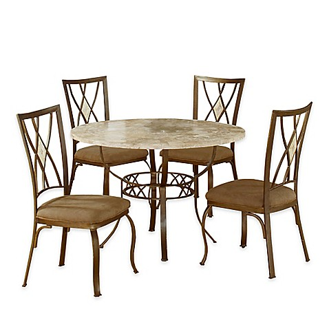 Hillsdale Furniture Brookside 5 Piece Round Dining Set With Diamond Back Chai