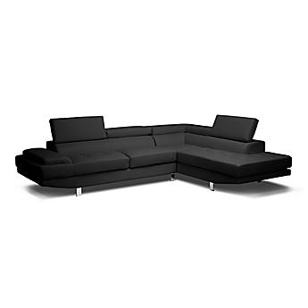 Image Of Baxton Studio Selma Sectional Leather Sofa