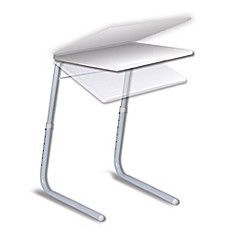 image of Tablemate® Extra-Large Adjustable Snack Table in White