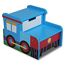 image of Olive Kids™ Train Step 'N Store in Blue
