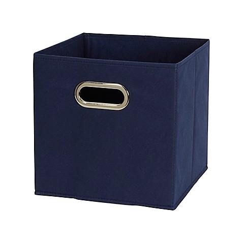 Household essentials 6 piece fabric storage bin set set for Navy bathroom bin