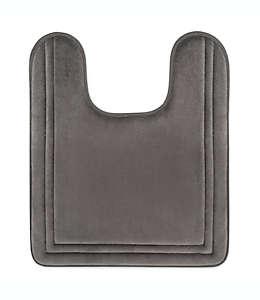 Tapete para baño de memory foam Smart Dry en herradura, 53.34x60.96cm en gris carbón