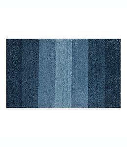 Tapete para baño Adelaide con franjas degradadas, 50.8 x 83.82 cm en azul marino