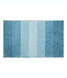 Tapete para baño Adelaide con franjas degradadas, 50.8 x 83.82 cm en azul mar