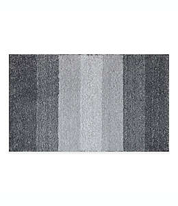 Tapete para baño Adelaide con franjas degradadas, 50.8 x 83.82 cm en gris