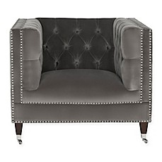 image of Safavieh Couture Miller Chair in Grey