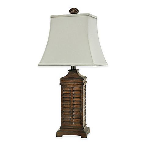 Coastal shutter table lamp bed bath beyond coastal shutter table lamp aloadofball Image collections