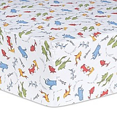 image of Trend Lab® Dr. Seuss™ One Fish, Two Fish Fitted Crib Sheet