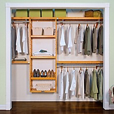 Lovely Image Of John Louis Home Simplicity Closet Organizer In Honey Maple