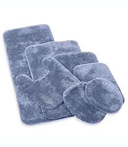 Cubierta alargada para tapa de inodoro Wamsutta® Duet, en azul pizarra
