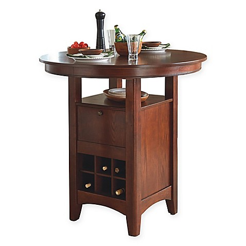 Intercon Furniture Mission Casuals 42-Inch Pub Table in Dark Oak
