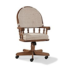 image of intercon furniture classic oak arm chair in chestnut