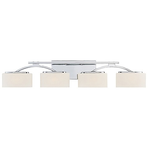 Buy Quoizel Arch 4 Light Bath Fixture In Polished Chrome From Bed Bath Beyond