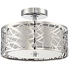 image of Quoizel Platinum Collection Abode Semi-Flush Mount in Polished Chrome