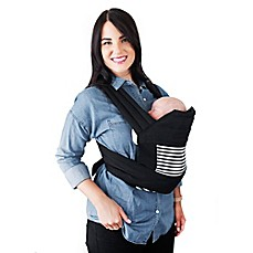 image of Moby® Meh Dai Stripes Baby Carrier in Black