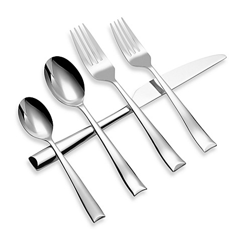 Gourmet settings soprano 20 piece flatware set bed bath beyond - Gourmet settings silverware ...