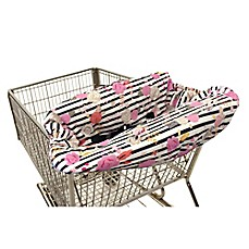 image of Itzy Ritzy® Ritzy Sitzy™ Shopping Cart and High Chair Cover in Floral Stripe
