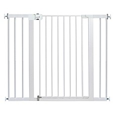 image of safety 1st easy install extra tall and wide gate in white