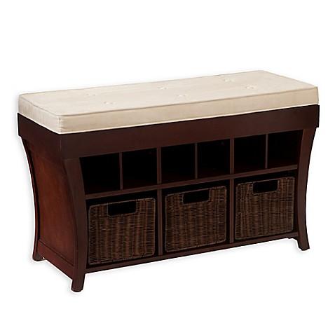 Southern Enterprises Lowry Storage Bench In Espresso Bed Bath Beyond
