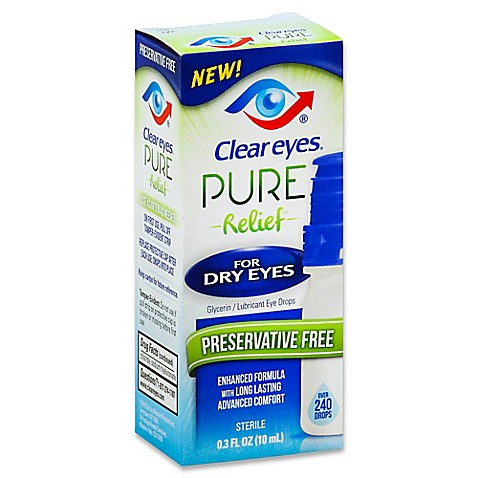 dry eye drops clear 174 relief for 3 fl oz lubricant 12337