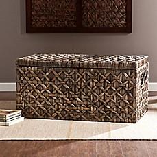 Southern Enterprises Water Hyacinth Storage Trunk & wicker storage trunk | Bed Bath u0026 Beyond