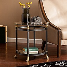 image of Southern Enterprises Allesandro End Table in Dark Grey