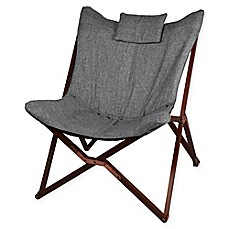 image of Modern Linen Chair with Wooden Legs