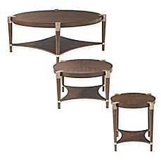 image of Bassett Mirror Company Thoroughly Modern Cole Accent Table Collection in Walnut
