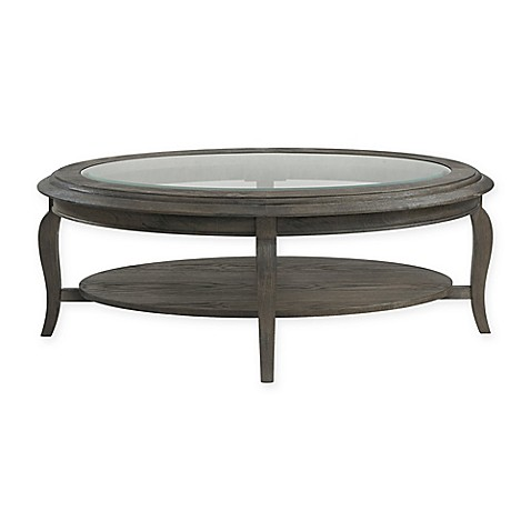 Buy Bassett Mirror Company Belgian Luxe Raiden Oval Cocktail Table In Rustic Coffee Bean From