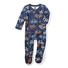 image of Tea Collection Cycle Footed Romper in Navy