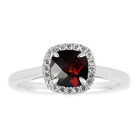 buy sterling silver lab created garnet and white sapphire