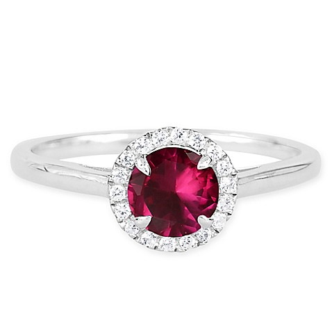 buy sterling silver lab created ruby and white sapphire