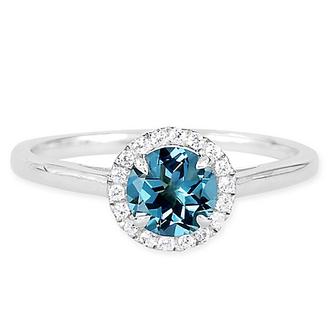 buy sterling silver lab created blue topaz and white