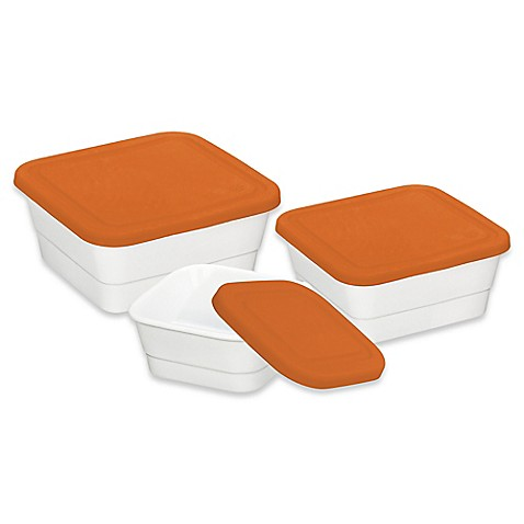 Imperial food storage 3 piece square food container set for 3 pieces cuisine