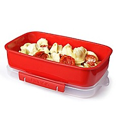 image of Sistema® 42.2 oz. Microwavable Rectangular Food Storage Container in Red