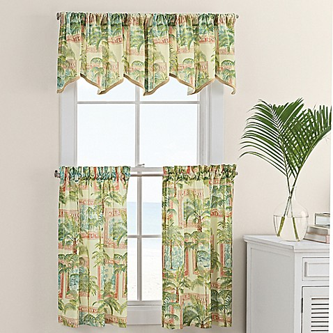 Buy Cayman 36 Inch Window Curtain Tiers Pair From Bed Bath Beyond