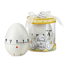 image of Kate Aspen® About to Hatch Kitchen Egg Timer Baby Shower Favor