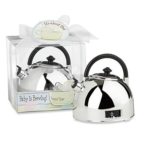 Image Of Kate Aspen® Teapot Timer Baby Shower Favor