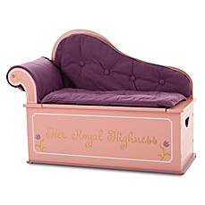 image of Wildkin Kid's Princess Fainting Couch with Storage in Pink