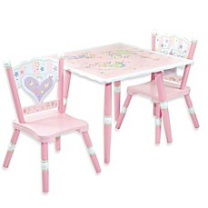 image of Levels Of Discovery Fairies 3-Piece Table & Chair Set in Pink