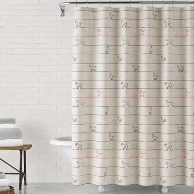 image of ED Ellen DeGeneres Animal Lines 72-Inch x 72-Inch Shower Curtain