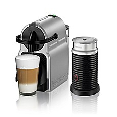 image of Nespresso by Delonghi Inissia Espresso Machine and Aeroccino Milk Frother Bundle