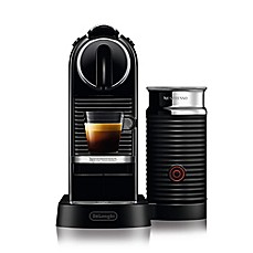 image of Nespresso® by Delonghi CitiZ Espresso Maker Bundle with Aeroccino Frother in Black